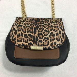 Nine West Kennedy Leopard Convertible Flap Bag
